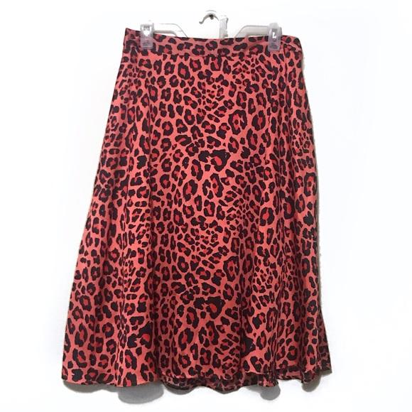 Worthington Dresses & Skirts - Hot Pink and Black Leopard Print Maxi Midi Skirt